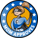 mom approves superhero mom wearing a blue super suit